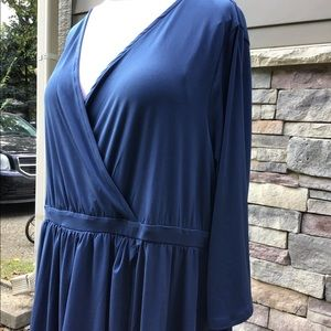 torrid Dresses - Navy  jersey dress, half sleeves, flare skirt NWT